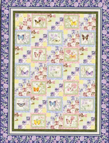 Butterfly Botanical Quilt -2color ways