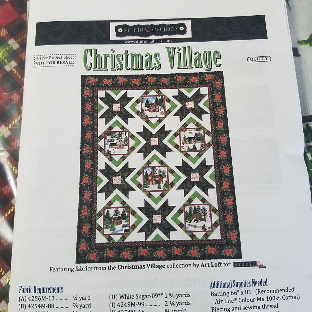Christmas Village Quilt Kit