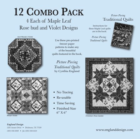 12 Combo Pack Freezer Papers  Pattern