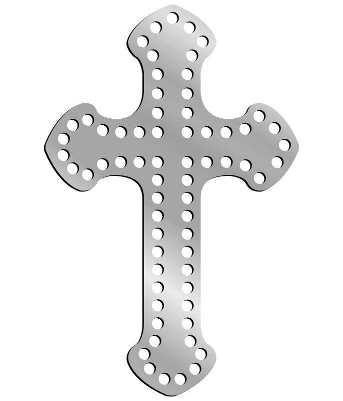 Rhinestone Template - Cross