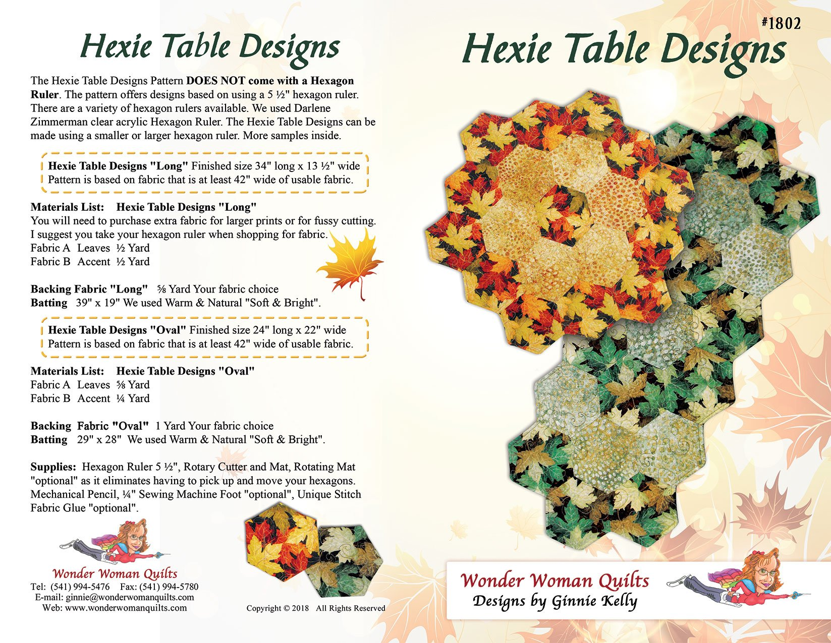 Hexie Table Designs Pattern