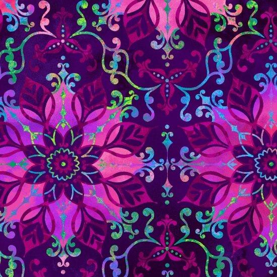 Aflutter - Floral Medallion Purple
