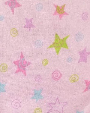 Flannel-Fun Stars purple, Blue