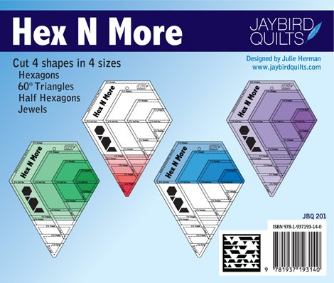 Hex N More Ruller with 4 Patterns