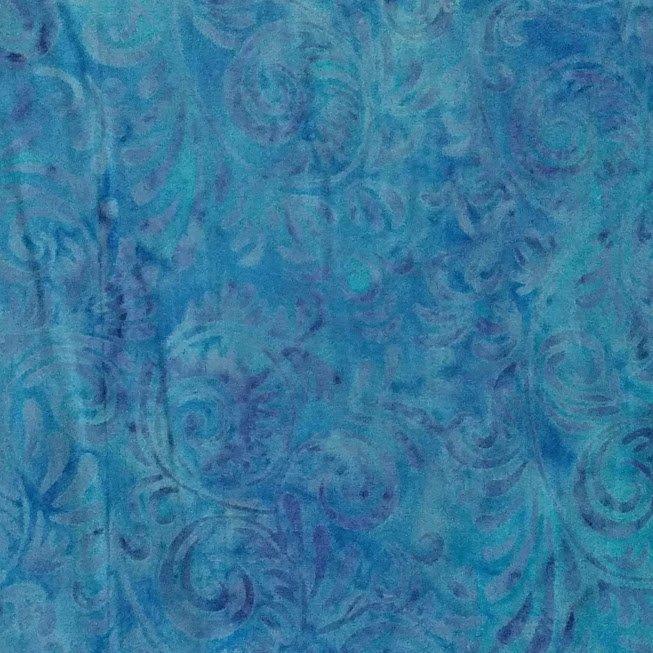 Batik Antique Swirls Blue/Lavender