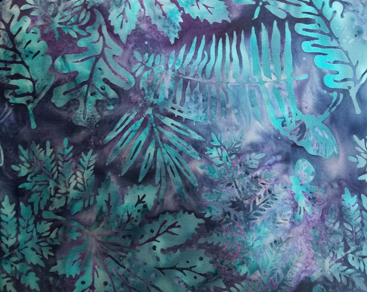 Batik Ferns Blue/Purple