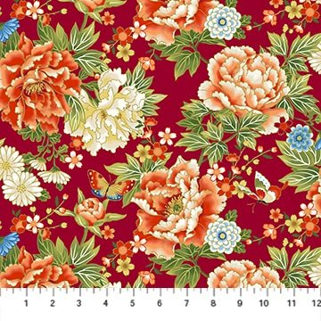 Kyoto Garden Floral Red Multi