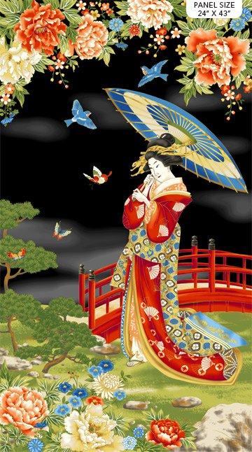 Kyoto Garden Panel Geisha Blk