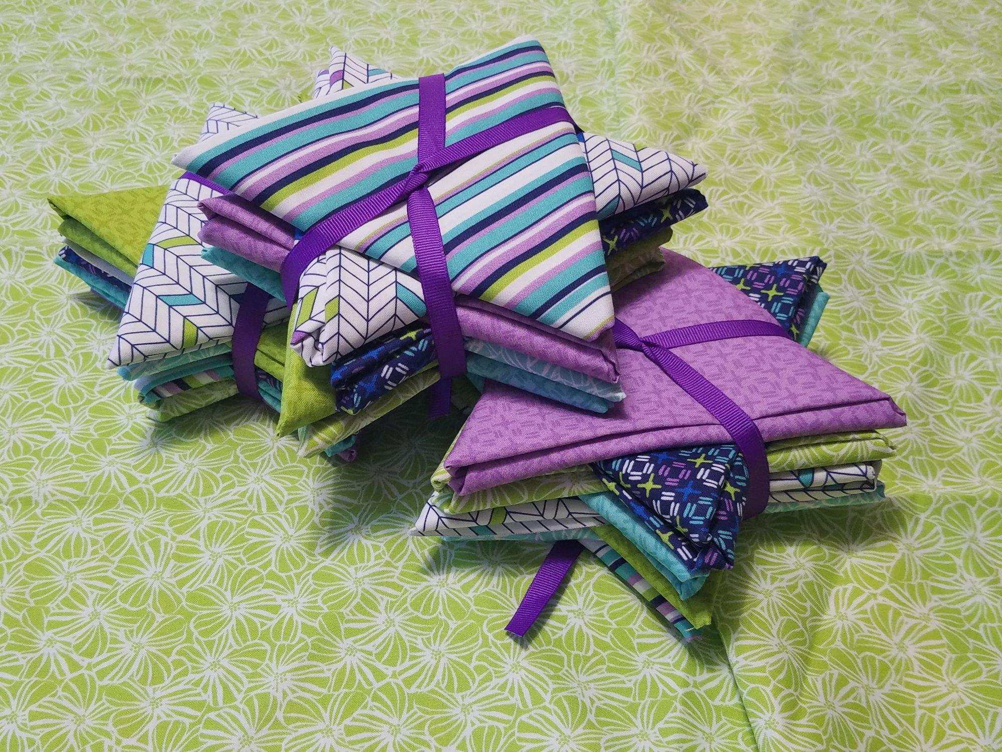 Lexi Star 8 FQ  aqua/green & purple/navy