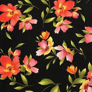 Catalina Medium Floral on Black