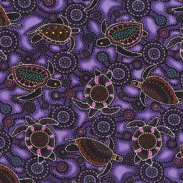 Down Under Sea Turtles in Purple