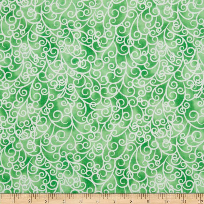 Petal Poetry - Green Swirl