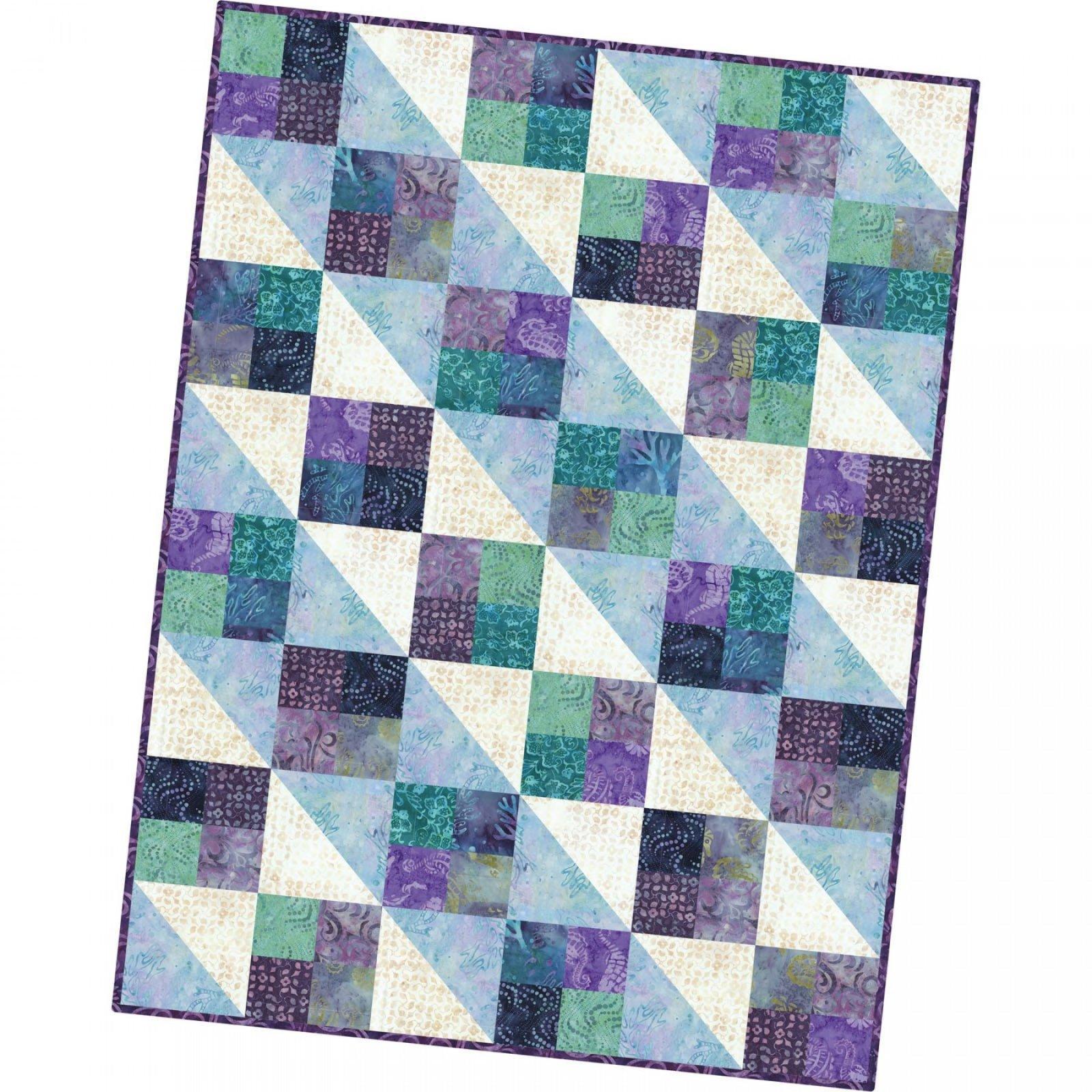 Coastal Chic Batiks Four Square Quilt Kit