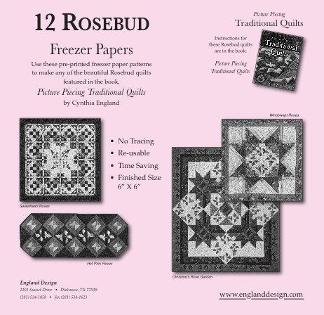 12 Rosebud Freezer Papers  Pattern
