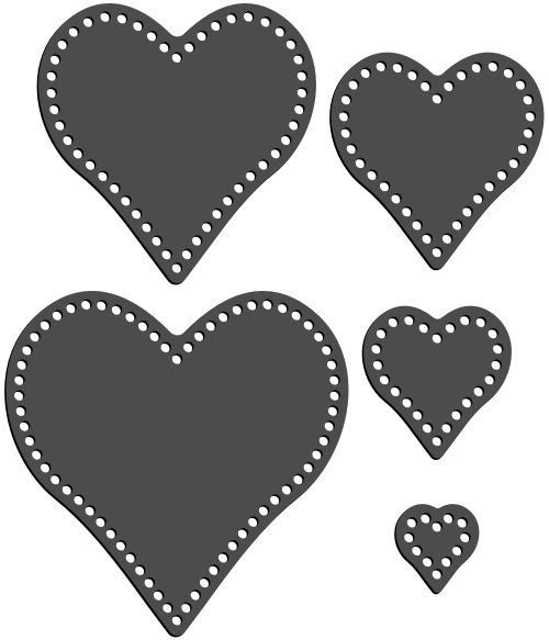 Rhinestone Template - Stacking Hearts Pack
