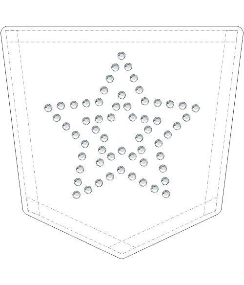 Rhinestone Template - Pocket Star