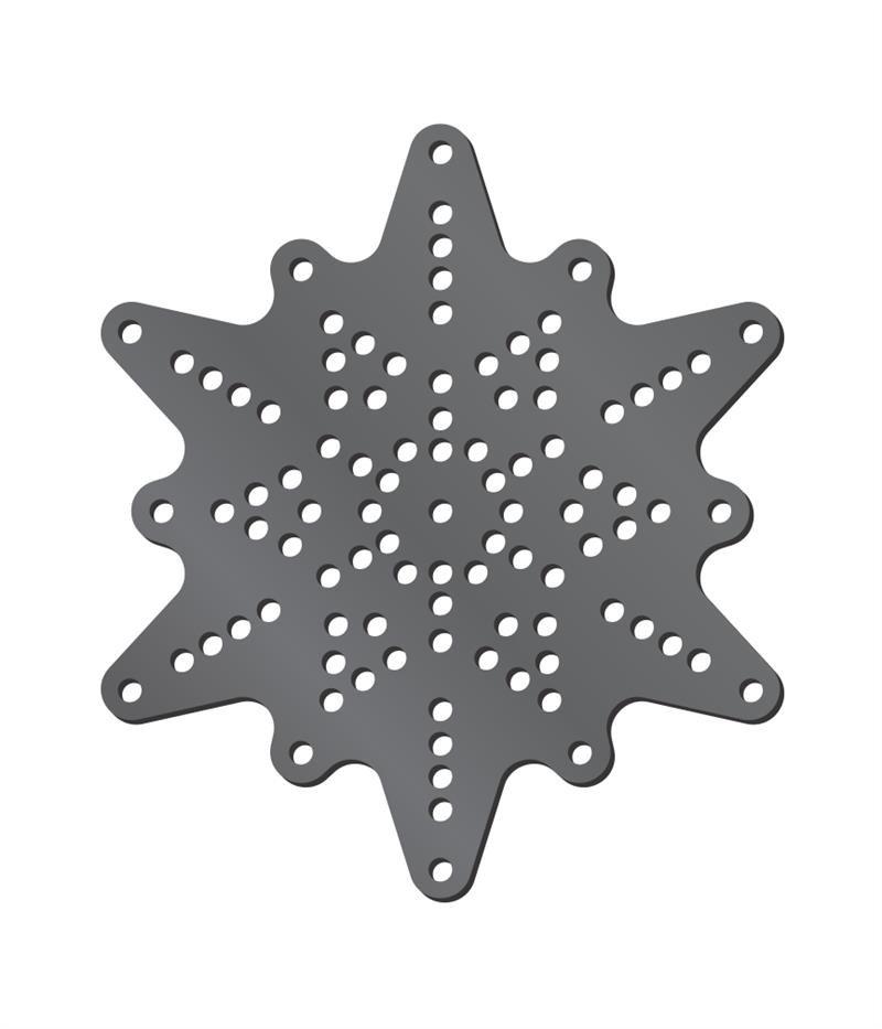 Rhinestone Template - Snowflake - Stitch and Bling