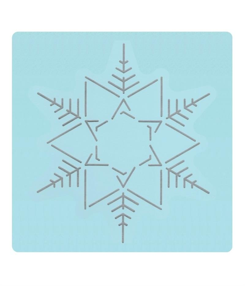 Rhinestone Stencil - Snowflake - Stitch and Bling