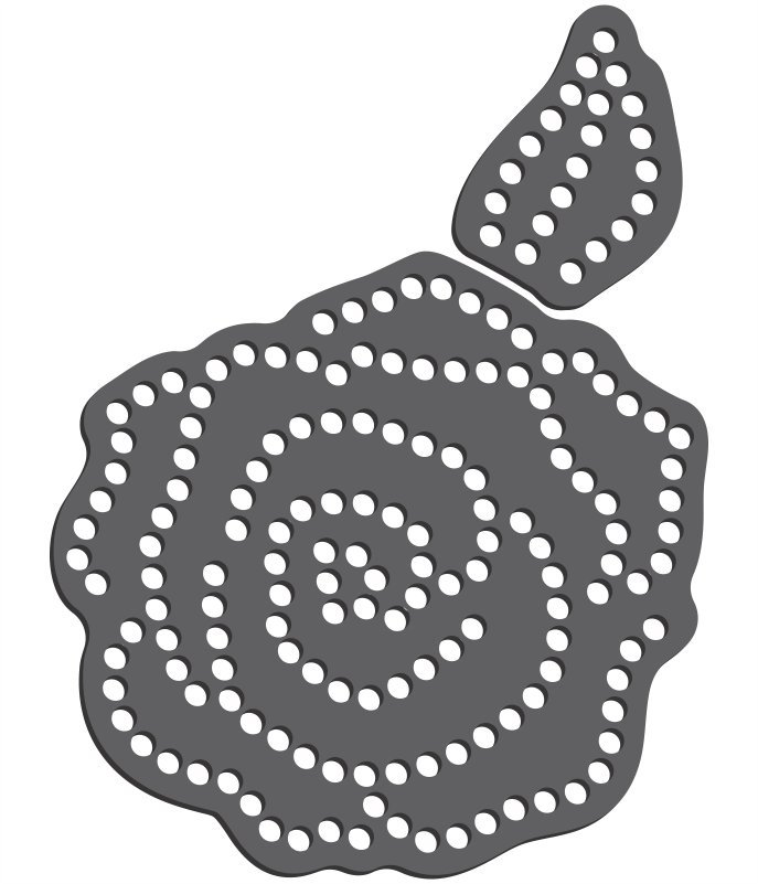 Rhinestone Template - Rose