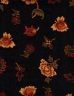Flannel-Spice Mkt. Black Floral