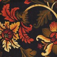 Flannel-Spice Mkt. Lg. Black Floral