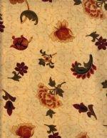 Flannel-Spice Mkt. Gold Floral