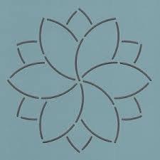 Rhinestone Stencil - Multi Layer Flower - Stitch and Bling
