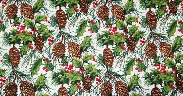 Tis the Season - Pinecones - Ivory