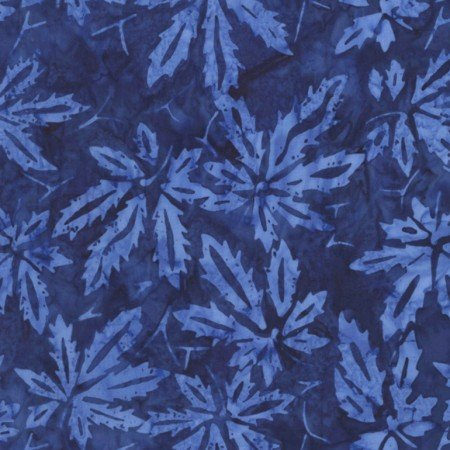 Tonga Batik COAST Blue -jagged Leaves