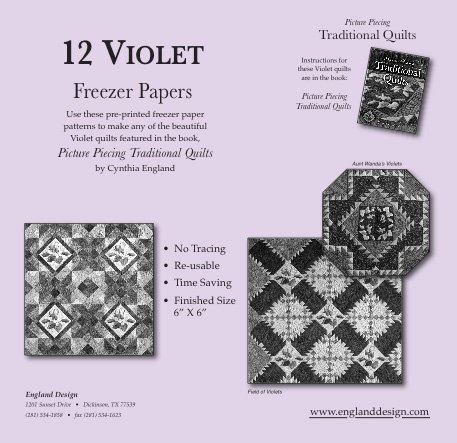 12 Violet Freezer Papers  Pattern
