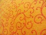 Flannel What a Hoot Swirls Orange
