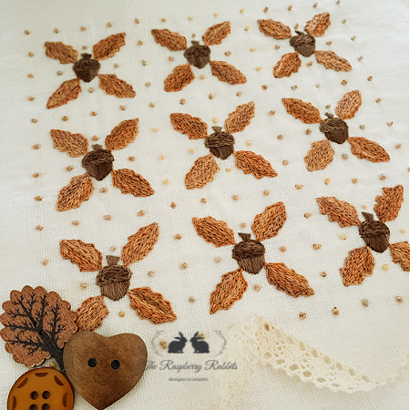 Nuts for Fall embroidery KIT