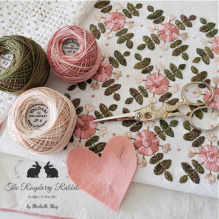 Nantucket Roses Embroidery KIT