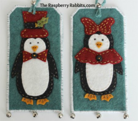 Paul and Polly Penguin gift tags e-Pattern
