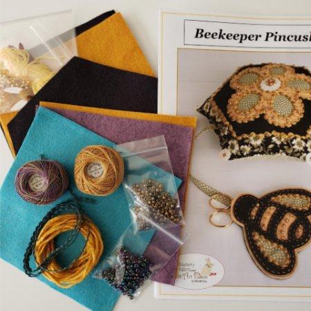 Beekeeper Pincushion Kit - Mardi Gras