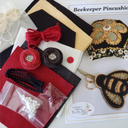 Beekeeper Pincushion Kit - Black Tie