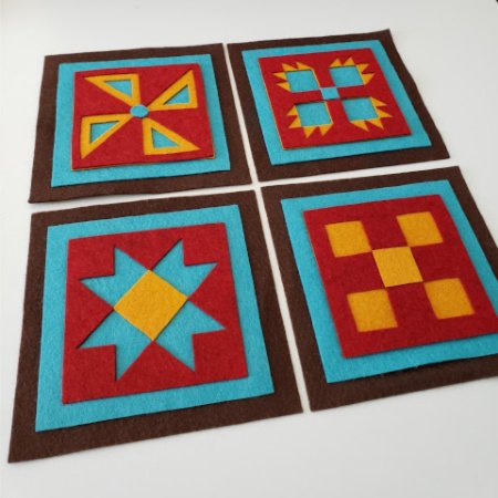 Ready to Stitch Shadow Box Blocks - Santa Fe