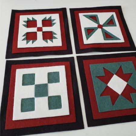 Ready to Stitch Shadow Box Blocks - Folk Art