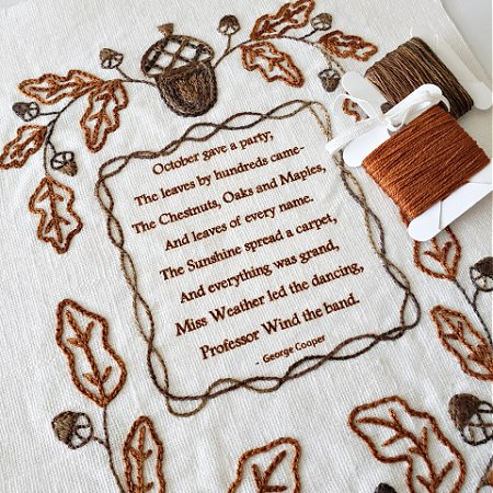 October Party Embroidery KIT