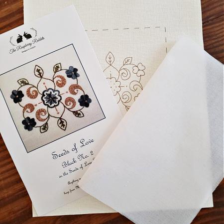 Seeds of Love Block 2 Printed Linen