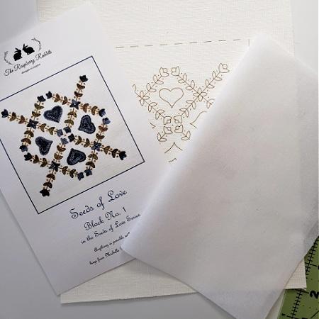 Seeds of Love Block 1 Printed Linen