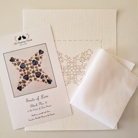 Seeds of Love Block 3 Printed Linen