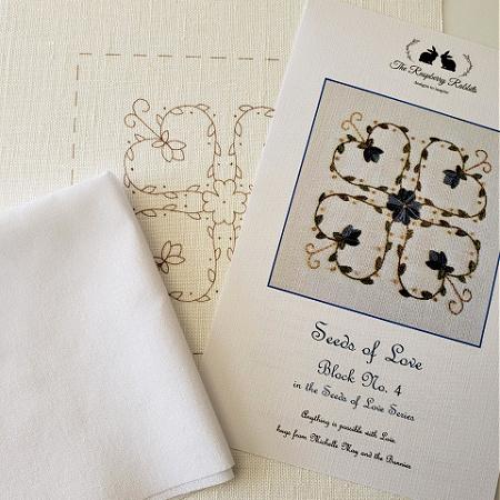 Seeds of Love Block 4 Printed Linen