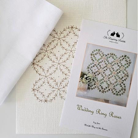 Wedding Ring Roses Printed Linen