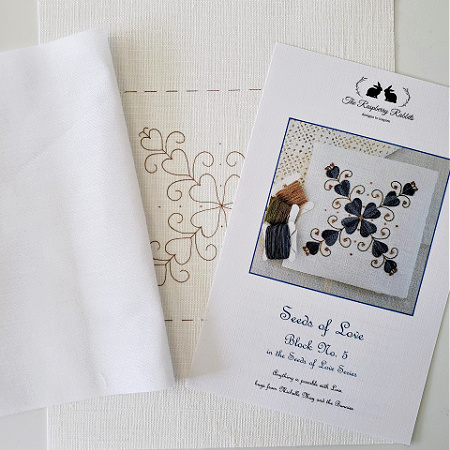 Seeds of Love Block 5 Printed Linen