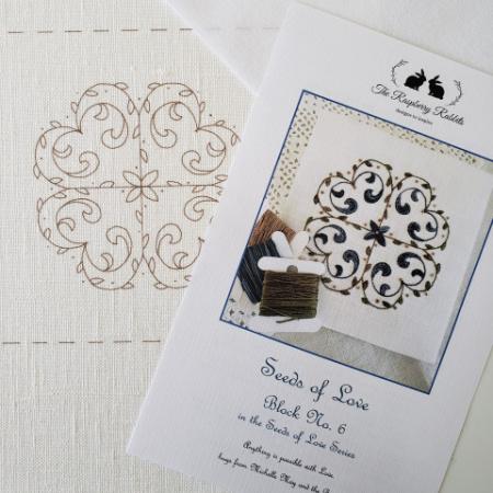 Seeds of Love Block 6 Printed Linen