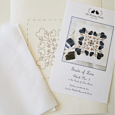 Seeds of Love Block 7 Printed Linen