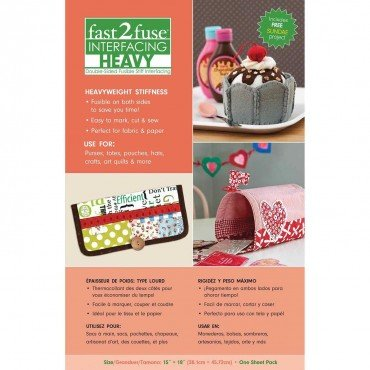 Fast2fuse Double-Sided Heavyweight Fusible-15 x 18