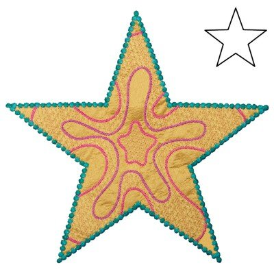 GO! Star 5-point by Sarah Vedeler