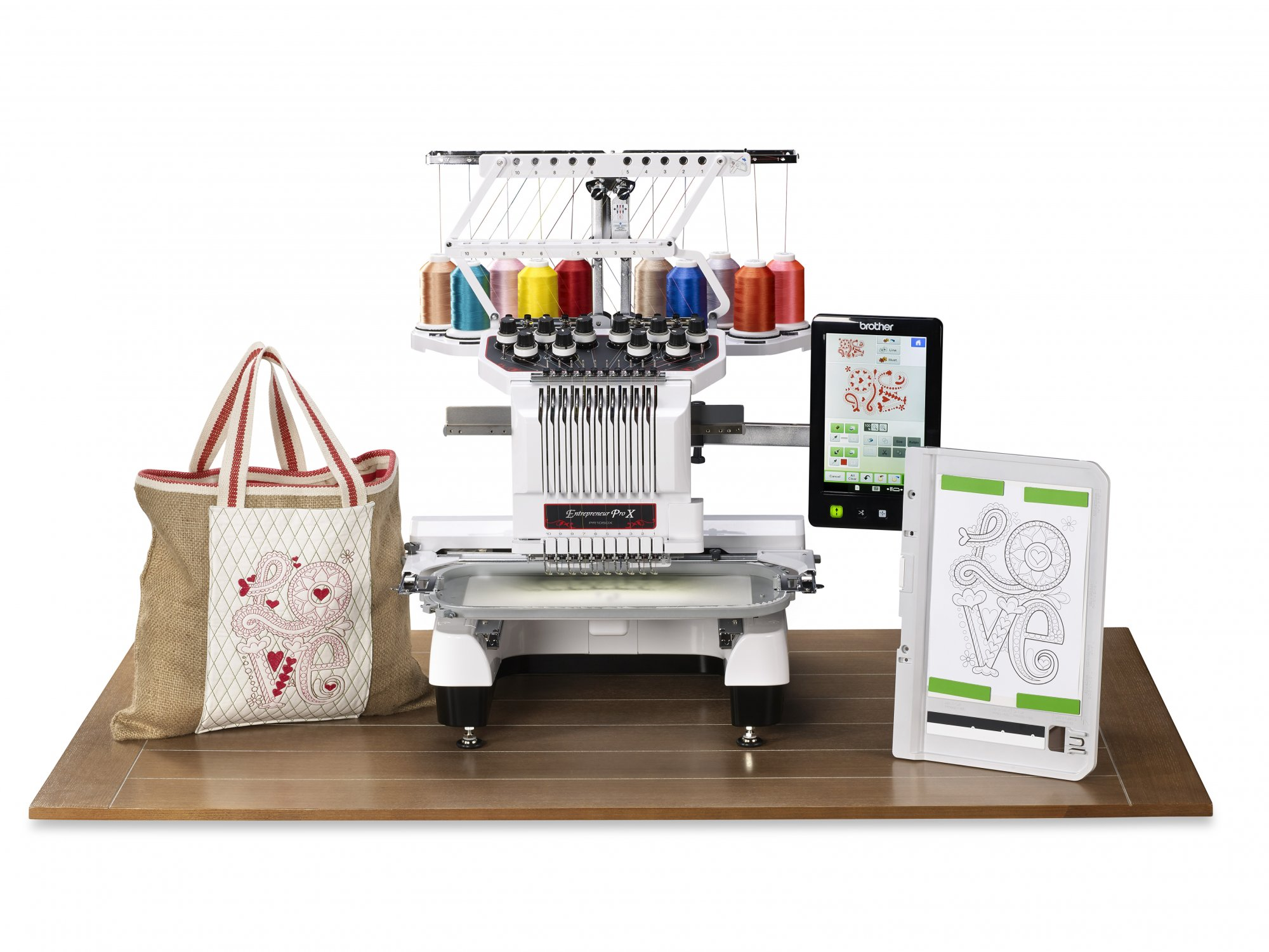 Brother PR1050X Entrepreneur 10-Needle Home Embroidery Machine